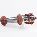 Стойка с шампурами сталь+бук (12шт)