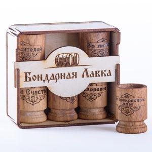 деревянные рюмки