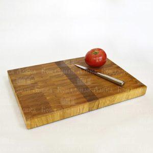 Торцевая разделочная доска из дуба 42 см