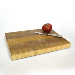 Торцевая разделочная доска из ясеня 42 см