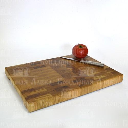 Торцевая разделочная доска дуб+ясень 60 см
